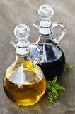 Oil and vinegar Stock Photography