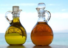Oil and Vinegar Stock Image