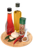 Oil, vinegar and spice Royalty Free Stock Photos