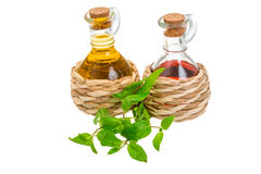 Oil and vinegar Royalty Free Stock Photography