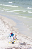 Oil washes ashore in Pensacola Beach Stock Images