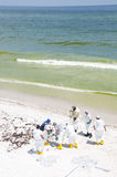 Oil washes ashore in Pensacola Beach Royalty Free Stock Images
