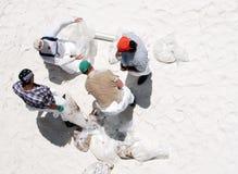 Oil washes ashore in Pensacola Beach stock photography