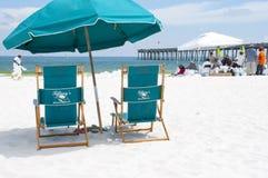 Oil washes ashore in Pensacola Beach Royalty Free Stock Photos