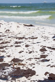 Oil washes ashore in Pensacola Beach Stock Photos