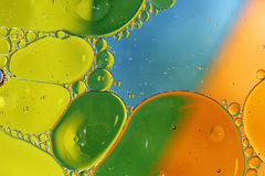 Oil in water abstract background Royalty Free Stock Photo