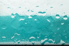 Oil and water droplets Royalty Free Stock Photo
