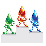 Oil, water, eco men, icon. Royalty Free Stock Photography