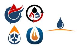 Oil Water Gas Pipe Solution Set. Vector Stock Photos