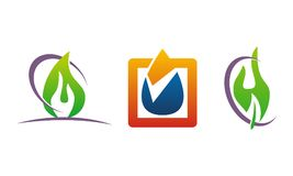 Oil Water Gas Solution. Vector Royalty Free Stock Photography