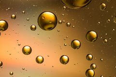 Oil and water, gold Royalty Free Stock Image