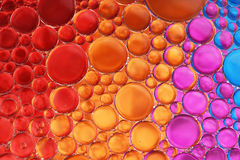 Oil and water over colors 18 Royalty Free Stock Photography