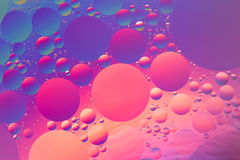 Oil and water psychedelic abstract. In purple, orange, red and blue Royalty Free Stock Images