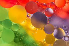 Oil and water wallpaper Royalty Free Stock Photos