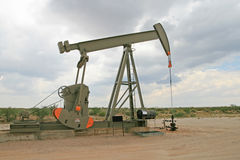 Oil well. Permian Basin oil well in New Mexico royalty free stock photos