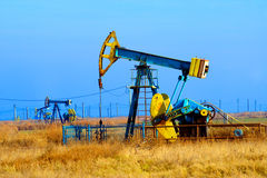 Oil well. In the field stock photos