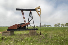 Oil well in Bulgaria. In the village of Tulenovo Stock Photos