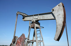 Oil well in Central Europe Stock Photos