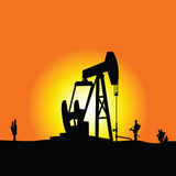 Oil well color vector Stock Image