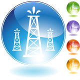 Oil Well Geyser. An image of an oil well gushing oil stock illustration