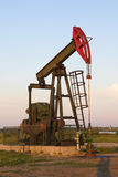 Oil well on the medow Royalty Free Stock Images