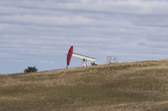 An Oil Well in North Dakota Royalty Free Stock Images