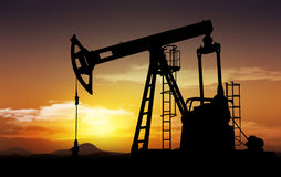 Oil well pump royalty free stock photography