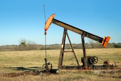 Oil well pump Royalty Free Stock Photos