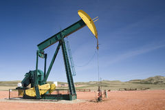 Oil well pump head Royalty Free Stock Image