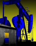 OIL WELL PUMP JACK Stock Images