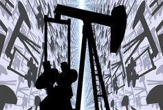 OIL WELL PUMP JACK Royalty Free Stock Photography