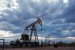 Oil well pump. Stock Photos