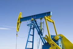 Oil well pump Royalty Free Stock Image