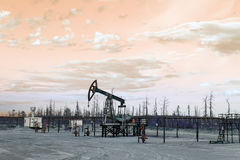 Oil well pump. Toned. Stock Image
