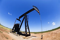 Oil Well Pumper. Royalty Free Stock Images