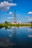Oil well rig. The Oil well rig in china stock images