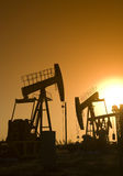 Oil well Silhouette Royalty Free Stock Photography