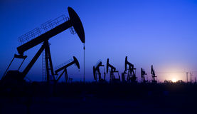 Oil well Silhouette Stock Photography