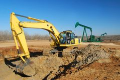 Oil Well Site Work royalty free stock images