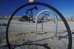 Oil well at Taft in the Central Valley, CA Stock Image