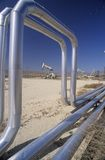 Oil well at Taft in the Central Valley, CA Stock Photography