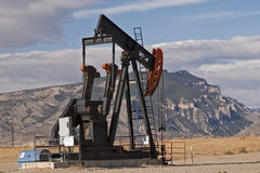Oil well in Wyoming Stock Photo