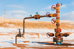 Oil Wellhead Stock Images