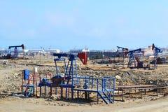 Oil wells. In Baku, Azerbaijan Stock Photography