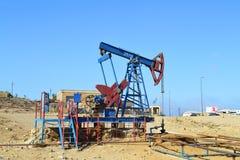Oil wells. In baku azerbaijan Stock Photography