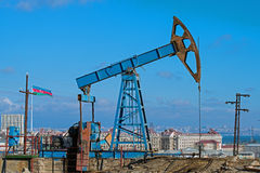 Oil Wells of Baku Royalty Free Stock Images