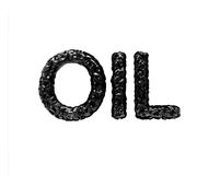 Oil word Royalty Free Stock Images