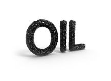 Oil  word Royalty Free Stock Photos