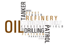 Oil word cloud Stock Image