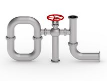Oil word from pipes Stock Images